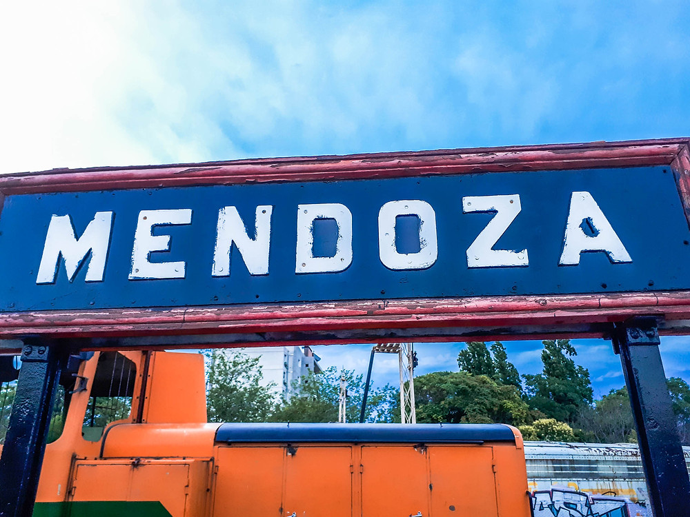 Mendoza Railway sign - AvVida.co.uk