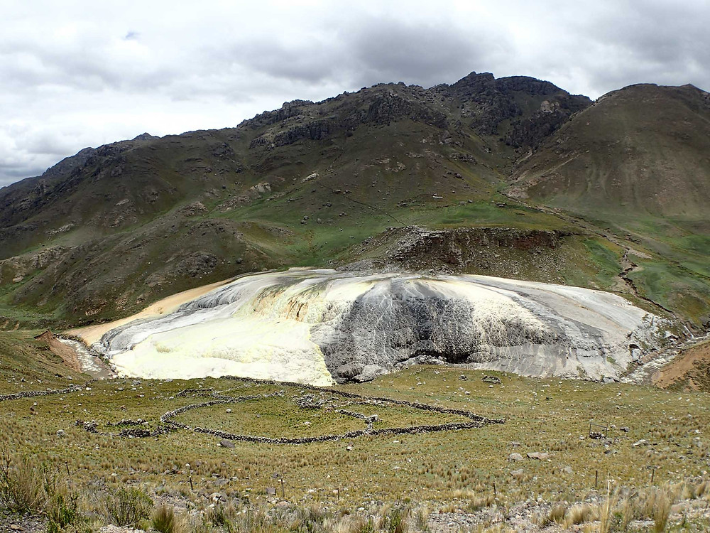Some more amazing mountain scenery with a very strange colouring and formation. Again, not 100% of exact location.