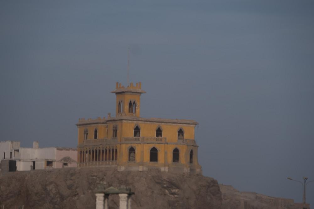 The castle on the shore in Mollendo, Peru - AvVida.co.uk