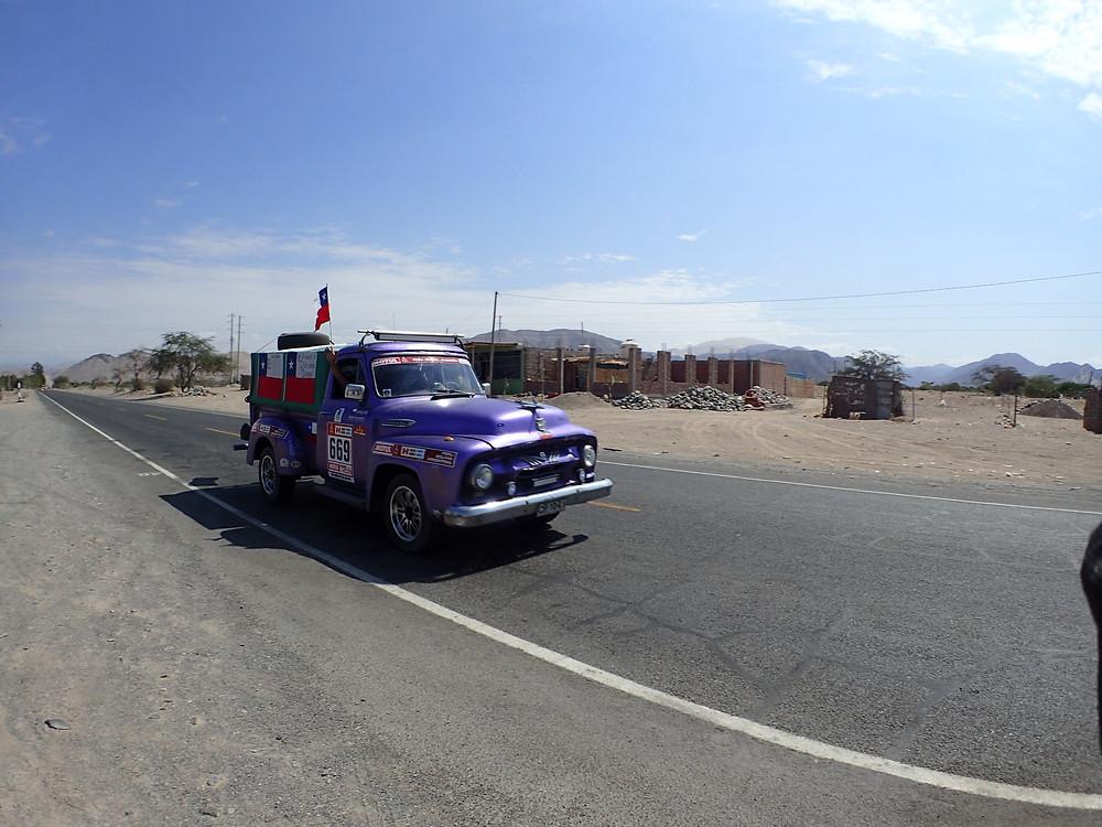 The famous purple Dakar van