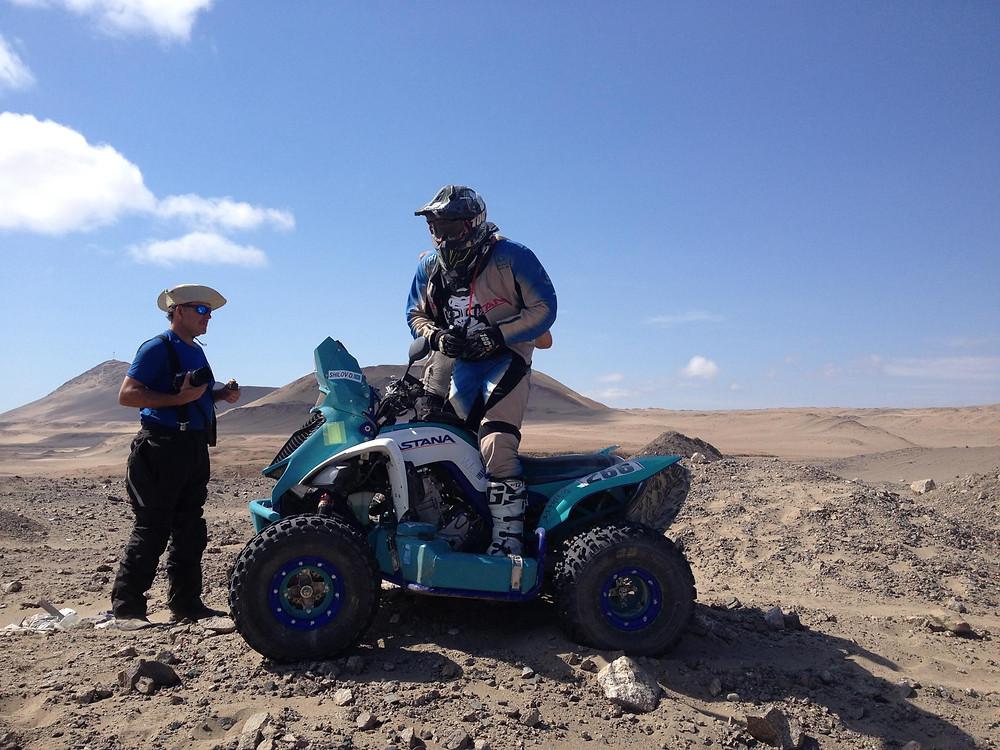 Dakar 2018 Quad racer admiring the seas view
