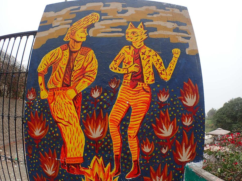 Cool street art in Barranco