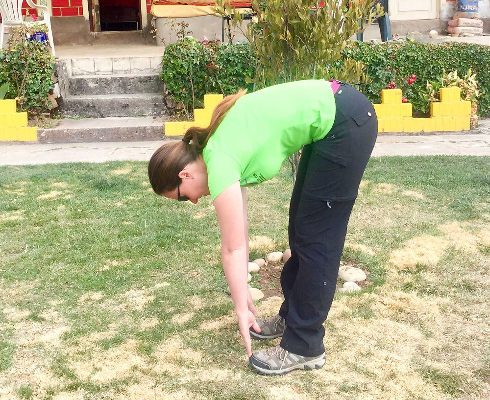 Lumbar and hamstring / touch toes stretch.  AvVida.co.uk - Suzie Says...