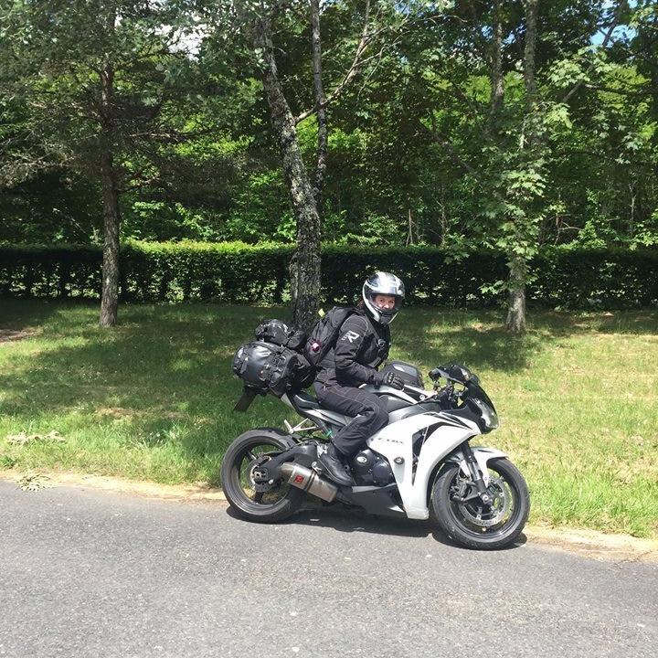 Road Trip - Suzie on her CBR1000rr