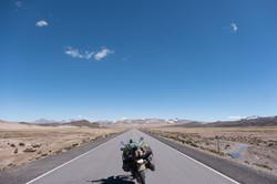 Long straight road