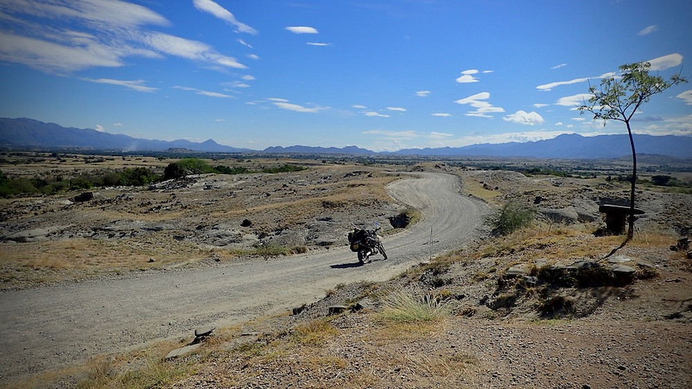 The road out of the Tatacoa Desert