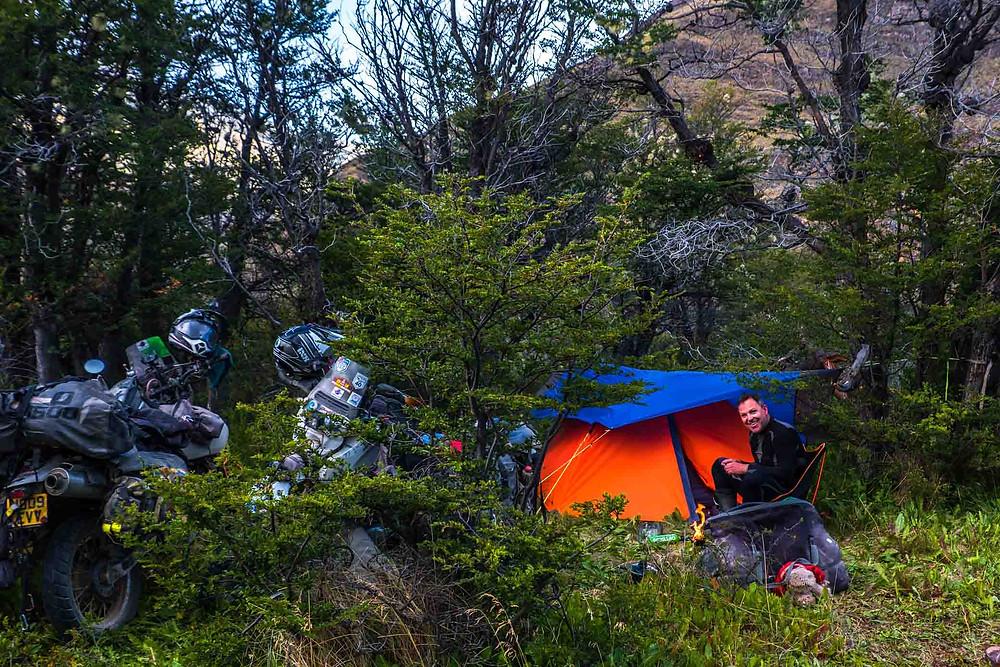 Bush wild-camping on route to Paso Rebollos - AvVida.co.uk