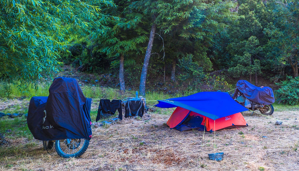 Our Camp Set-up at Rio Villegas, Patagonia - AvVida.co.uk