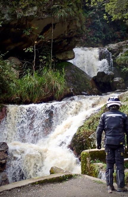 Cool, big roadside waterfall.