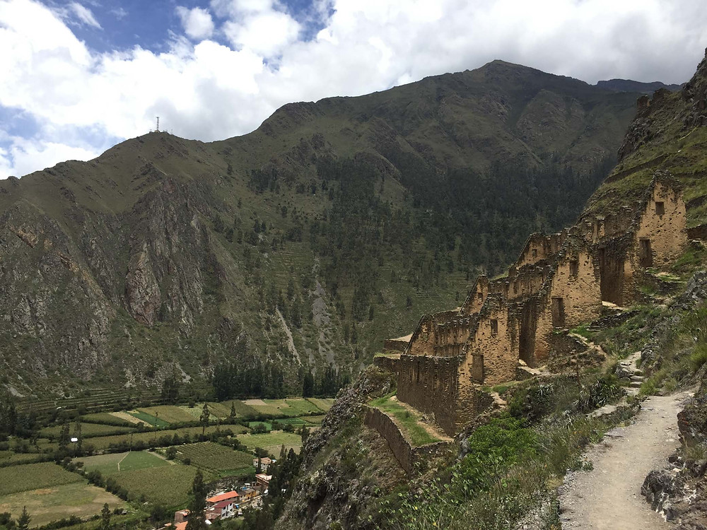 Some awesome ruins on the hillside in Ollaytaytambo.