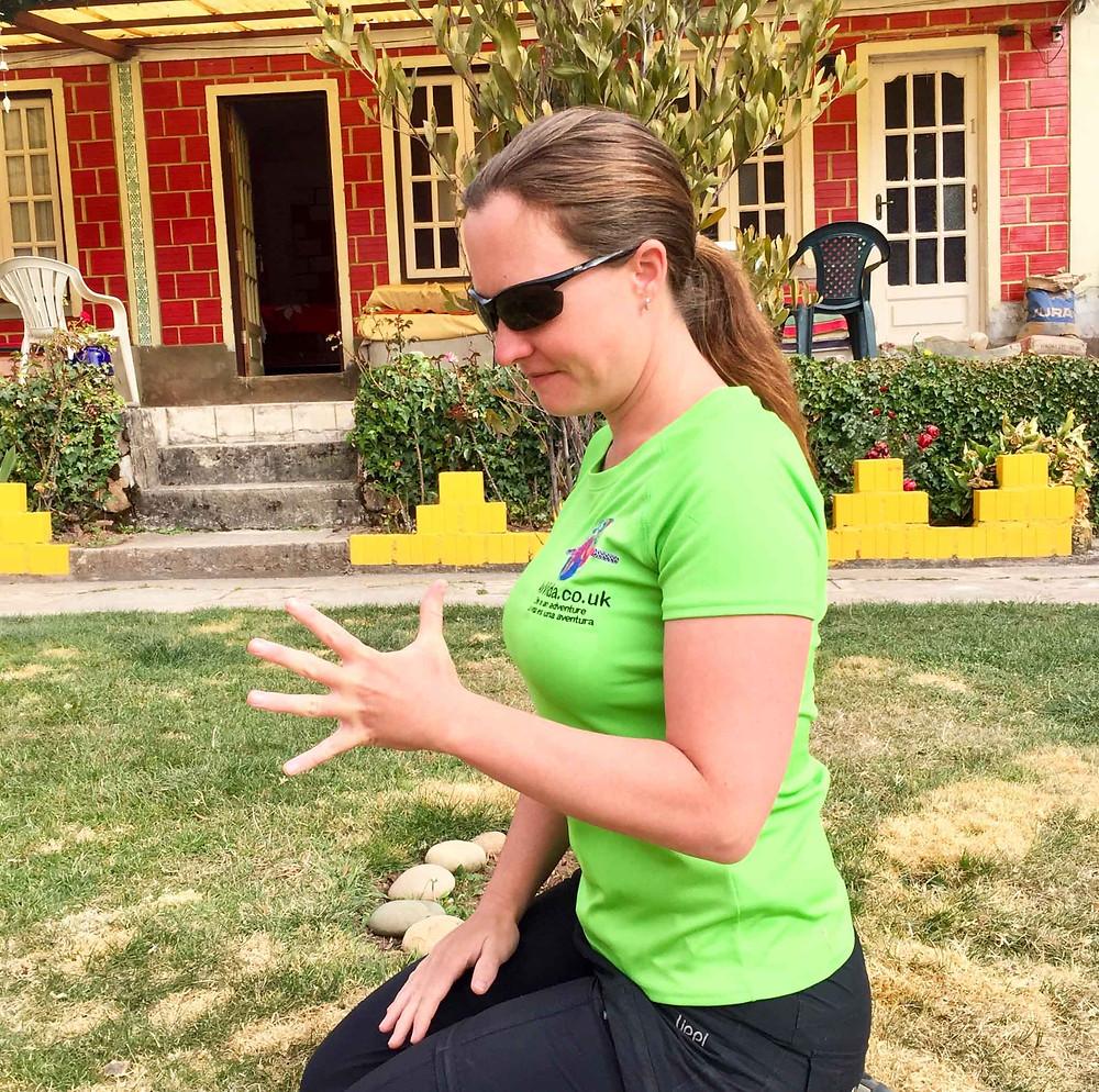 Finger stretch. AvVida.co.uk - Suzie Says...