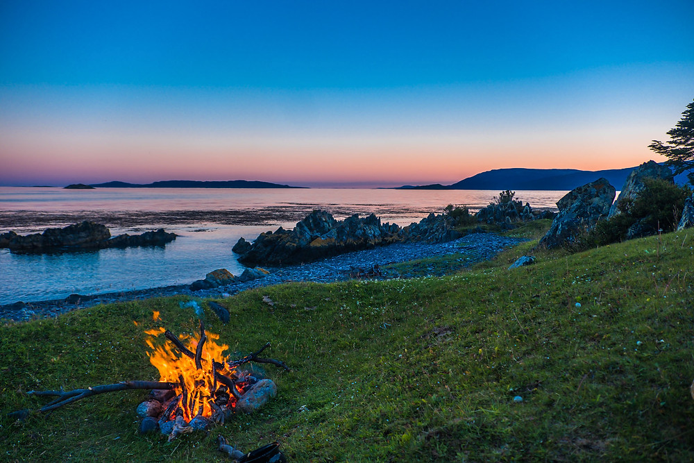 Our totally amazing wild camp spot overlooking the Beagle Channel on Tierra del Fuego - AvVida.co.uk