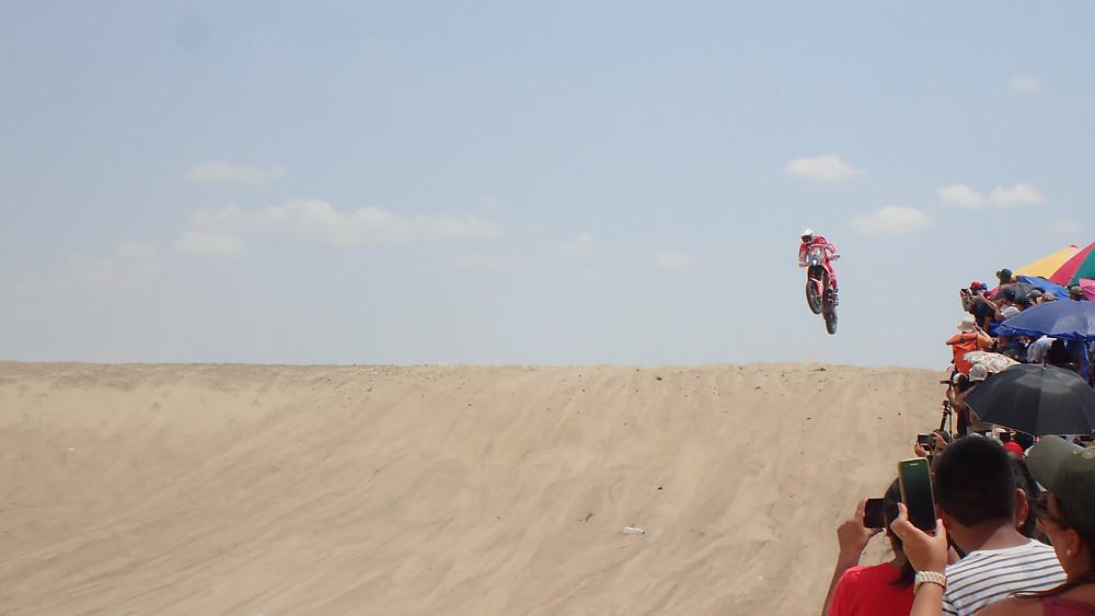 Dakar rider getting air