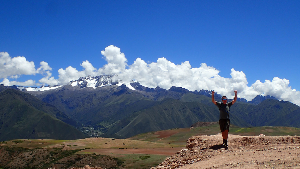 Kelvin enjoying his surroundings in Urubamba / Maras.