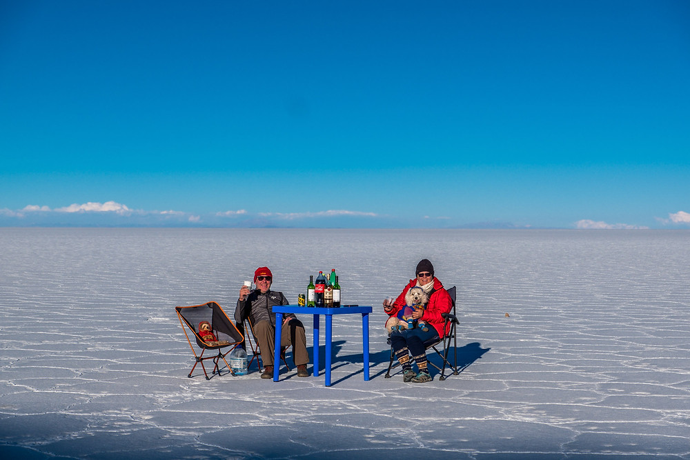 Salt Flat Bolivia, bar set up - AvVida.co.uk