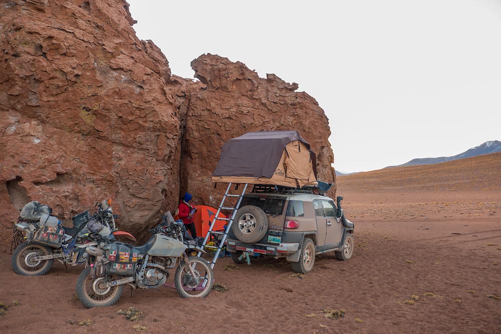 Wild camping on the Lagunas Route - AvVida.co.uk