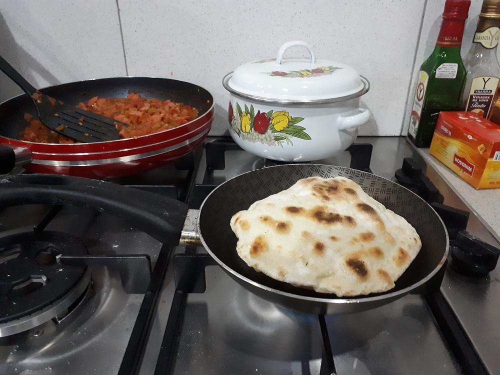 Chapatti's puffing up nicely! - Picture by AvVida.co.uk