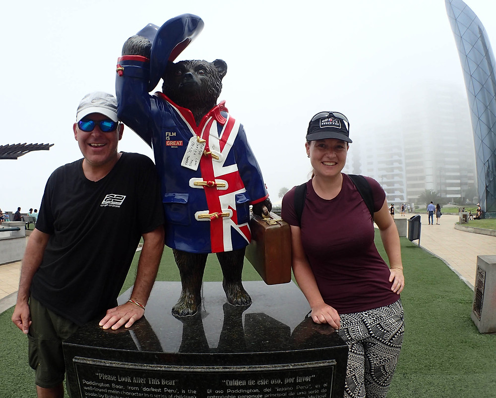 Kelvin and I with Paddington Bear in Darkest Peru!