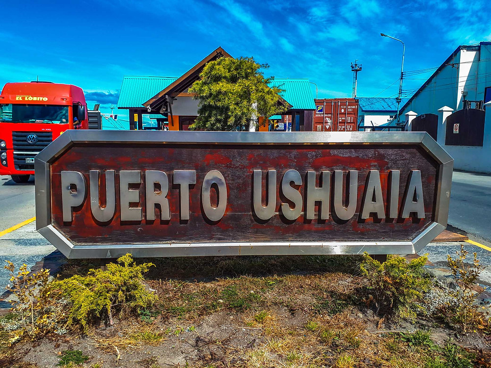 Puerto Ushuaia sign...in case that wasn't obvious! - AvVida.co.uk