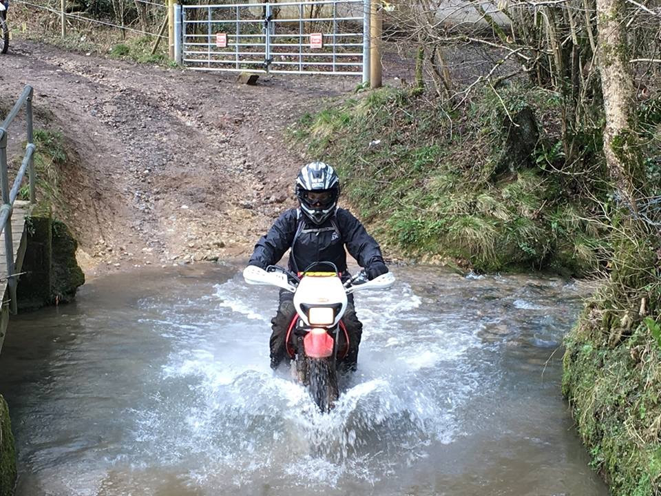 River crossing on my CRF 230