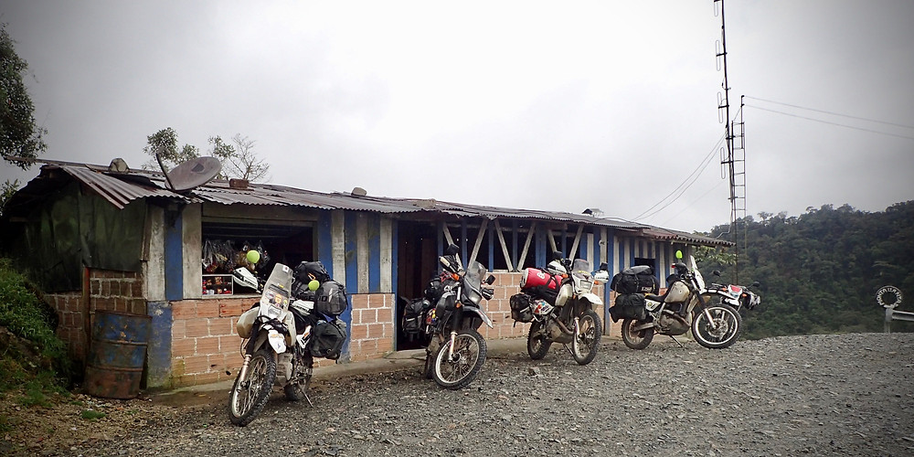 Coffee stop on Trampolin del Diablo
