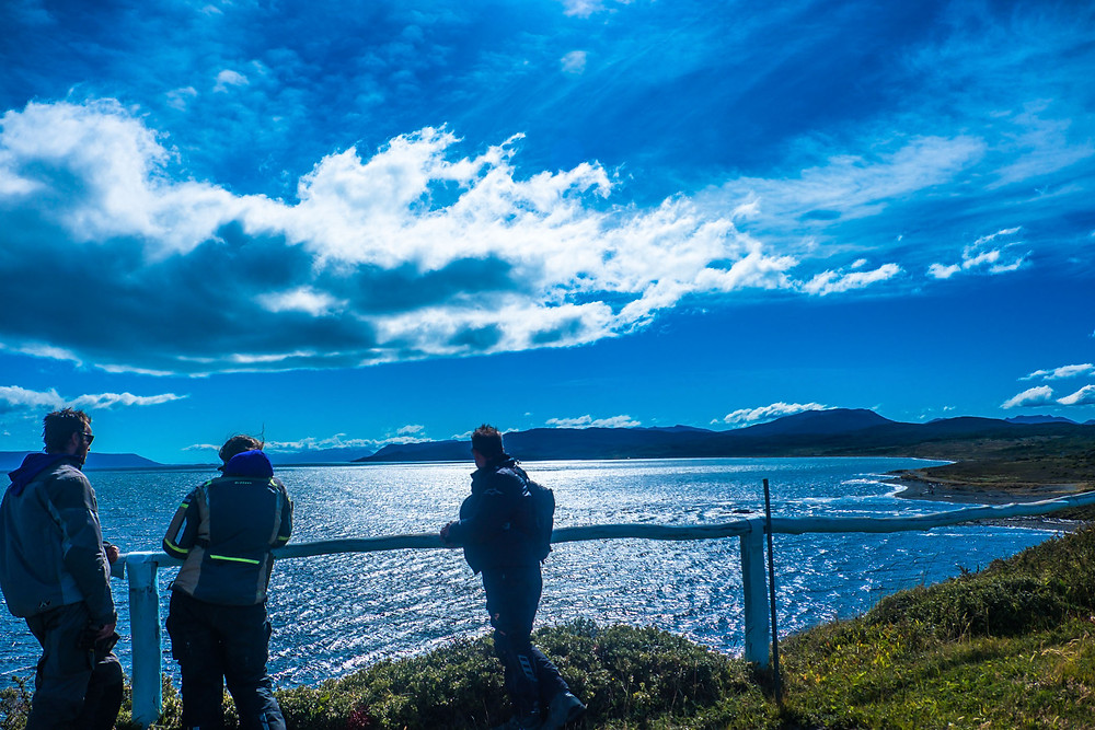 At the end of Ruta J looking out over the windy Beagle Channel on Tierra del Fuego - AvVida.co.uk