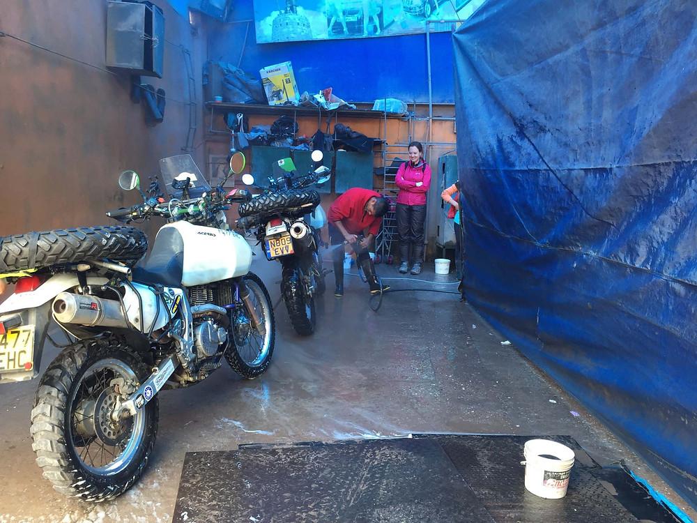 Bike washing time - Picture by Kelvin Prevett