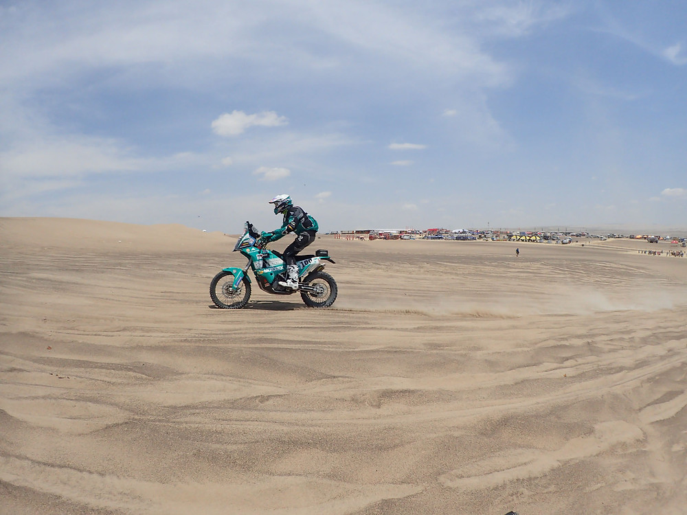 Lyndon Poskitt on his way Dakar 2018