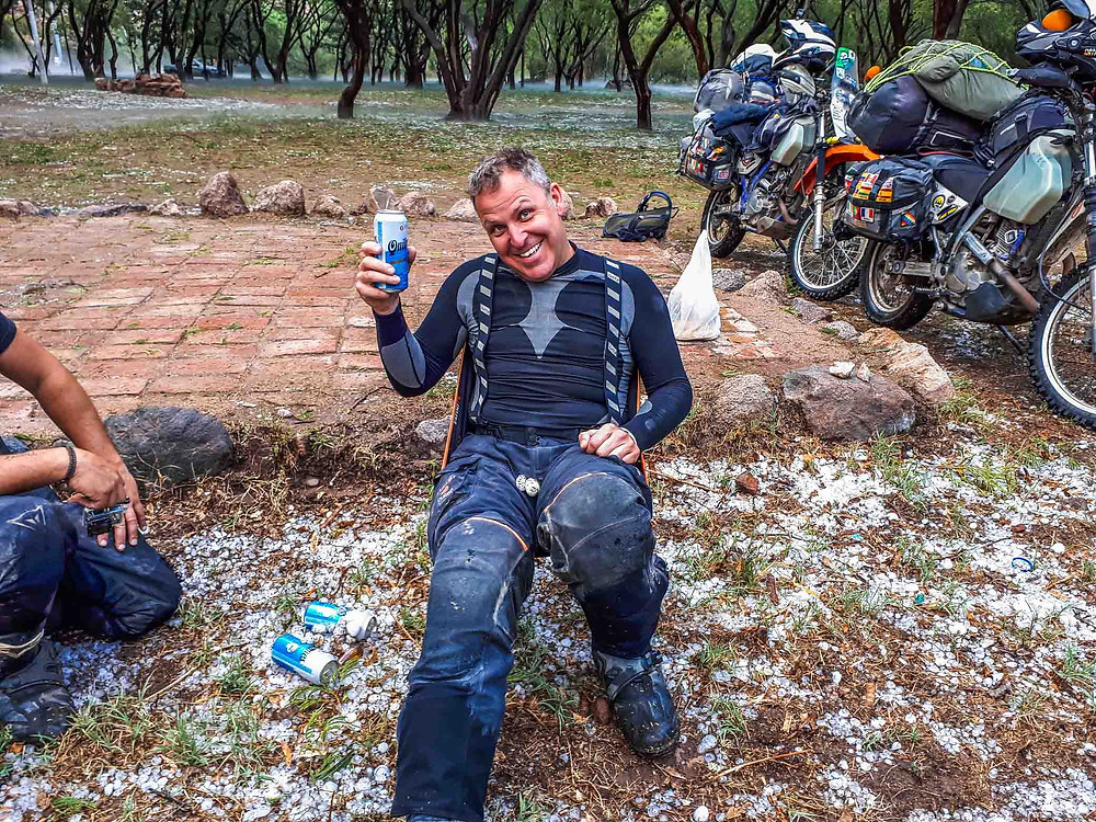 Kelvin on the beers with some hail stone balls! - AvVida.co.uk
