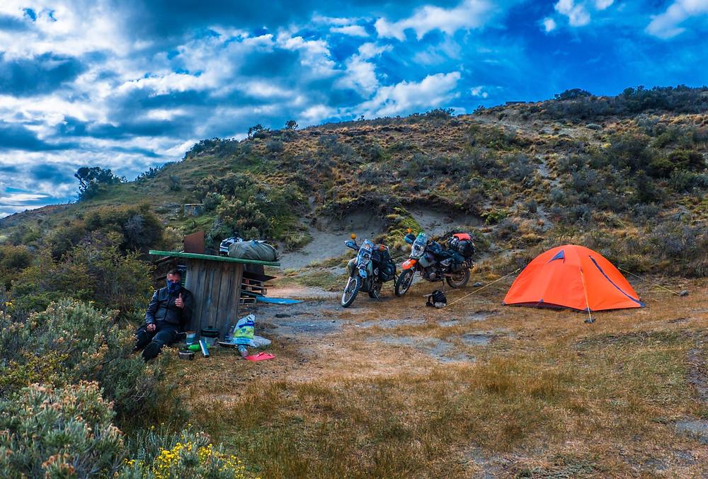 Wild camping near Reserva Provincial Cabo Virgenes - AvVida.co.uk