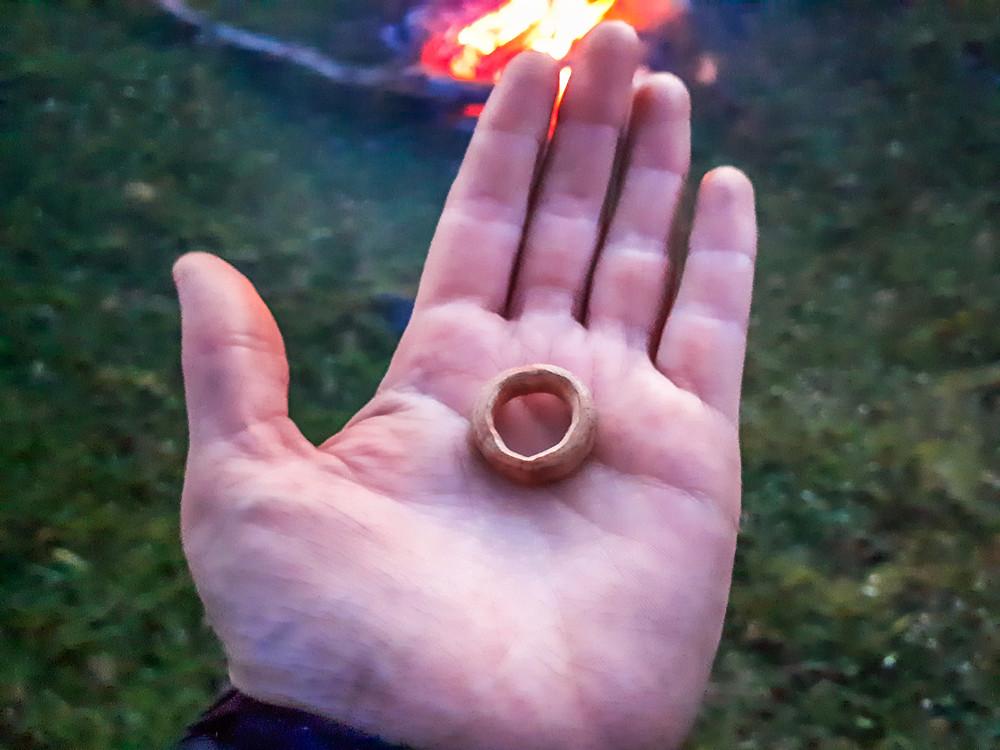 My engagement ring that Kelvin whittled for me - the first go! - AvVida.co.uk