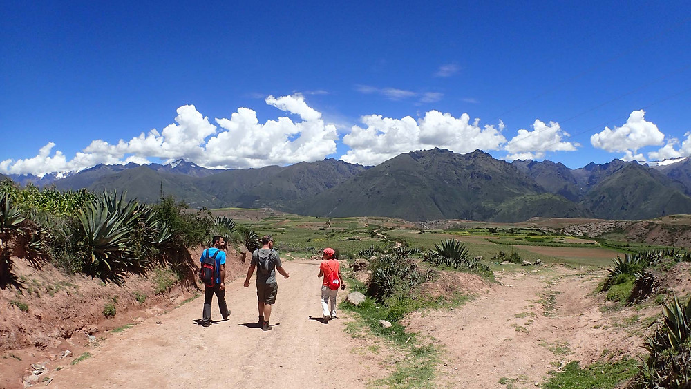 Walking from Maras to the salt mines with Vinee and Pedro surrounded by amazing scenery.