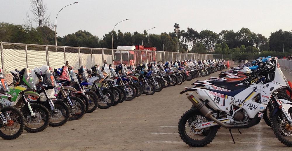 Dakar 2018 bikes Parque Ferme