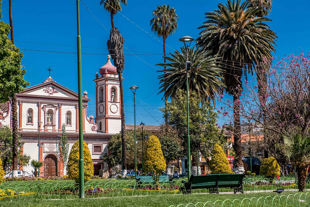 A plaza full of greenery in Cochabamba - AvVida.co.uk