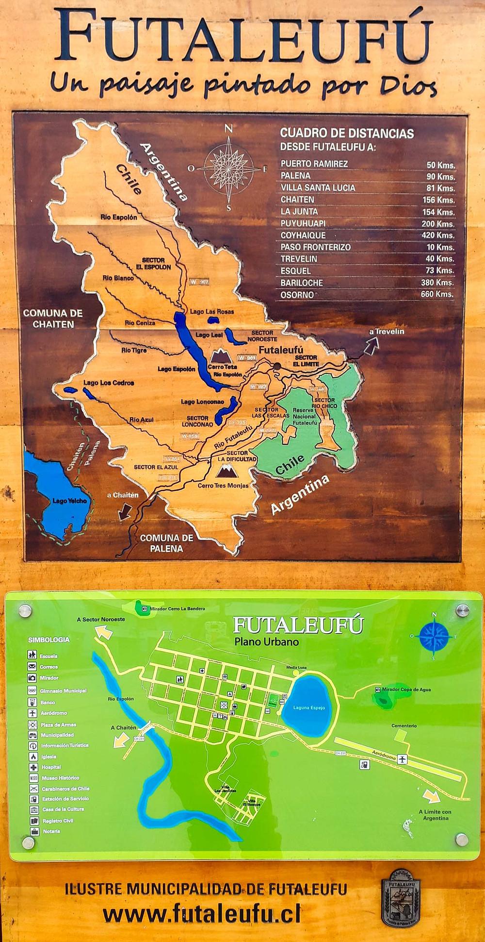 Map sign of Futalefufú and surrounding areas - AvVida.co.uk
