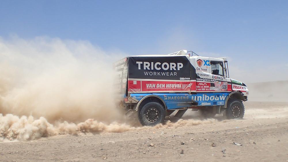 Dakar 2018 trucks gunning it