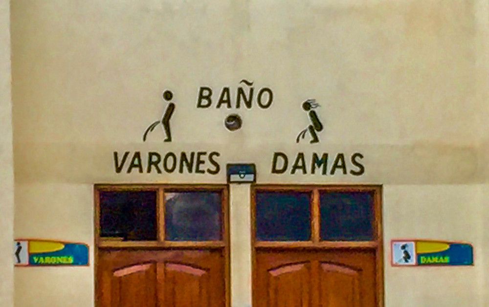 Bolivian toilet signs - AvVida.co.uk