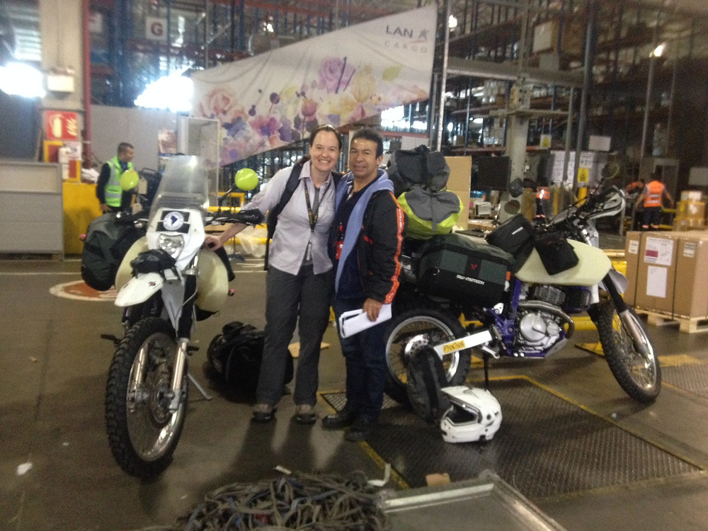 Me and Libardo....very happy to have the bikes!