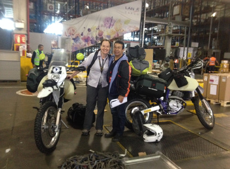 Freighting - Transporting the bikes to South America