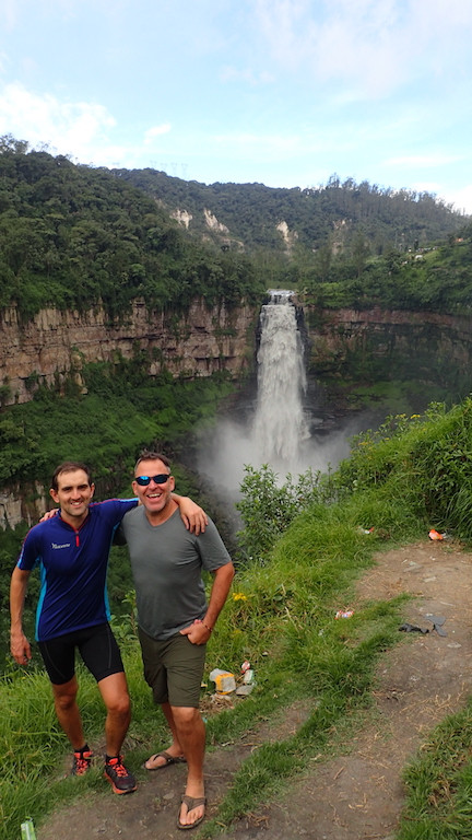 Rory and Kelvin at Tequendama Falls