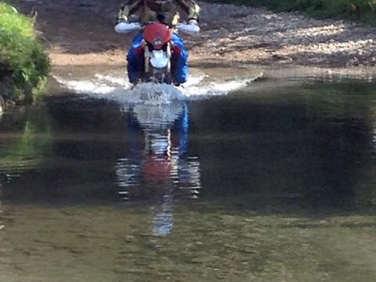 Forging through water