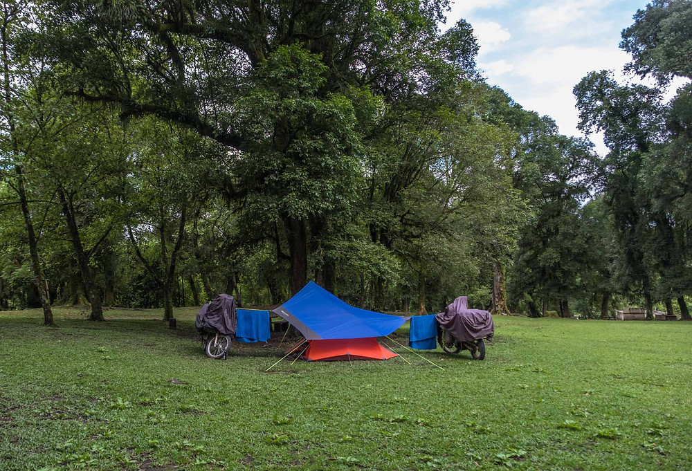 Camping set up at Samay Cochuna - AvVida.co.uk