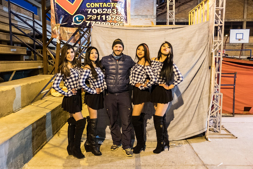 Philippe with the Cholitas intro girlies-AvVida.co.uk