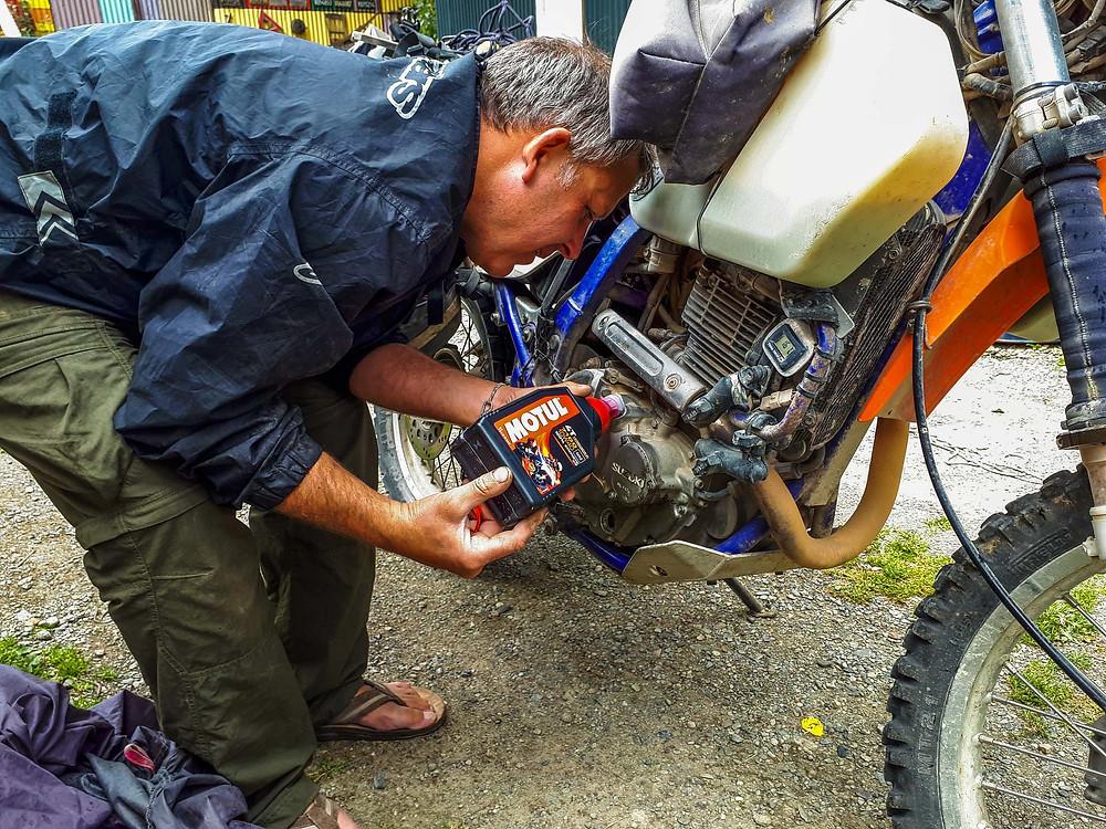Fresh Motul oil for the bikes - AvVida.co.uk