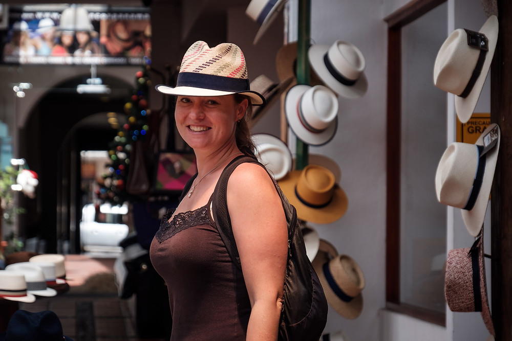 Panama hat museum...I think I've put on a few Lbs on our travels!!! Photo by Michnus Olivier.