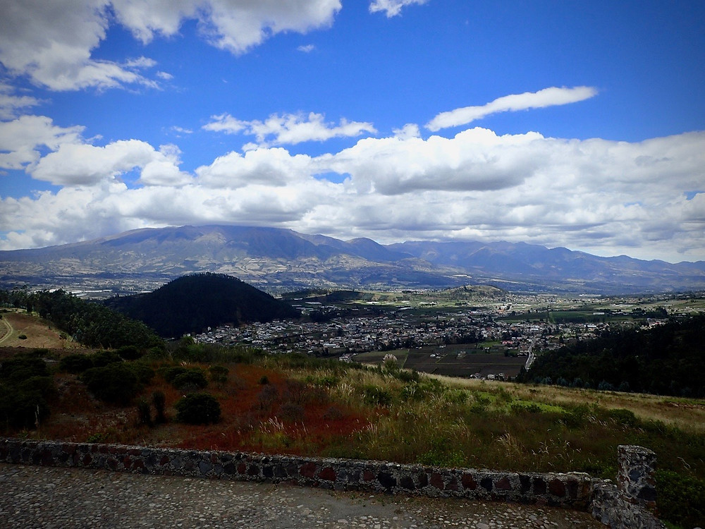 A beautiful view once again in Otavalo.