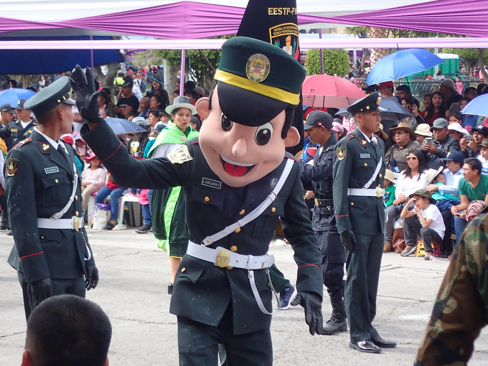 Mr Police mascot.