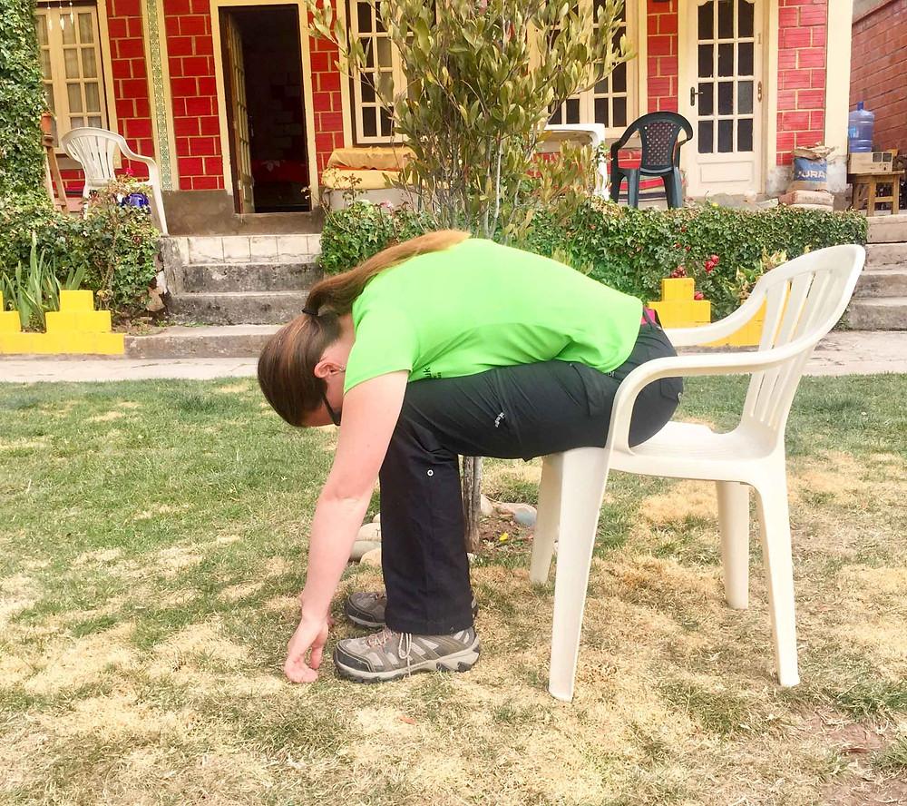 Lumbar stretch seated.  AvVida.co.uk - Suzie Says...