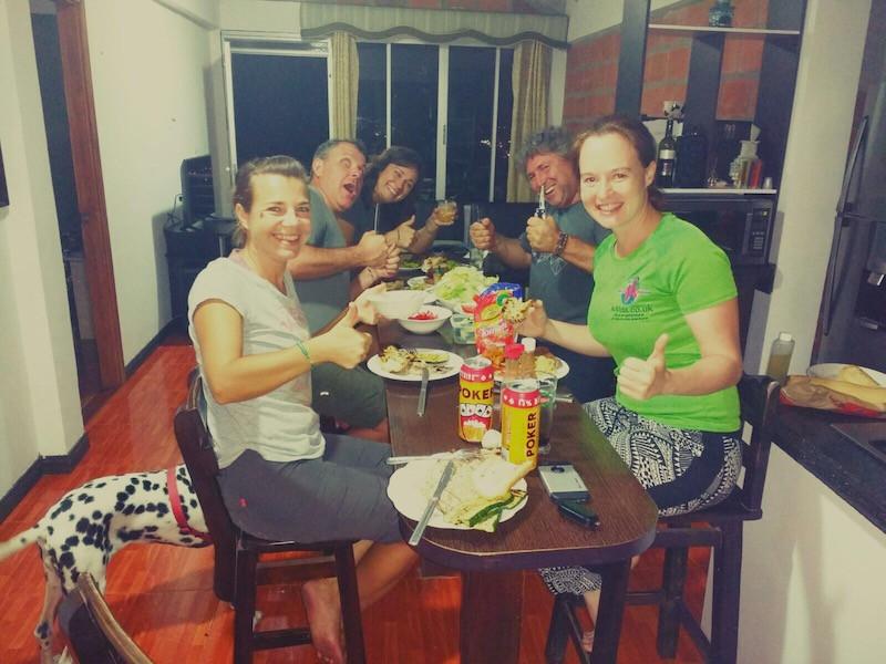 Yummy foor with Michnus, Elsebie, Regina and Bernard