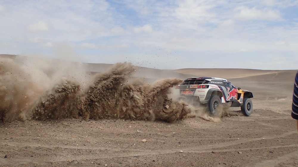 Awesome shot of Peugeot Dakar car